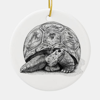 Pen and Ink  Turtle Christmas Ornament