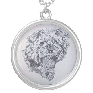 Pen and Ink Yorkshire Terrier Necklace