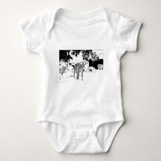 Pen and Ink Zebra Baby Bodysuit