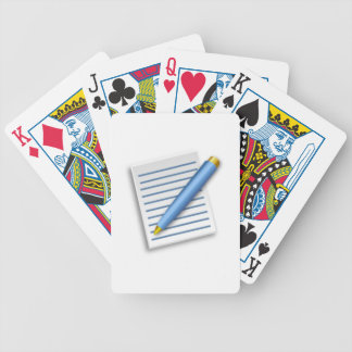Pen and Notepad Playing Cards