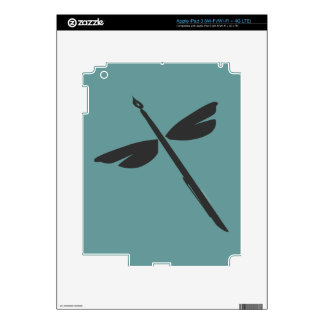 Pen and Wings Abstract Dragonfly Writer Logo iPad 3 Skins