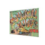 Pen¢ascos del consejo, Iowa - escenas grandes de l Lienzo Envuelto Para Galerias
