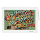 Pen¢ascos del consejo, Iowa - escenas grandes de l Tarjeta De Felicitación