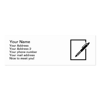 Pen biro memo business card template