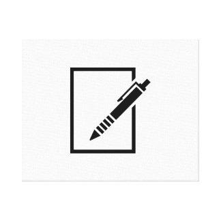 Pen biro memo stretched canvas prints