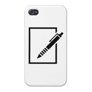 Pen biro memo case for iPhone 4