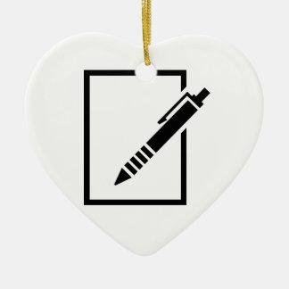 Pen biro memo ornament