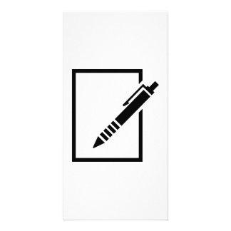 Pen biro memo photo card template