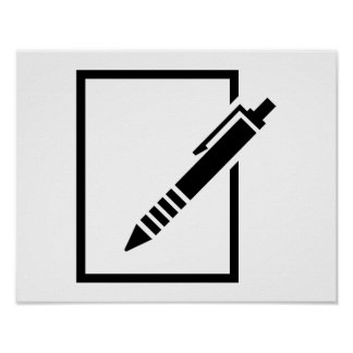 Pen biro memo poster
