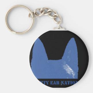 PEN Blue on black Keychain