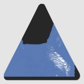 PEN Blue on black Triangle Sticker