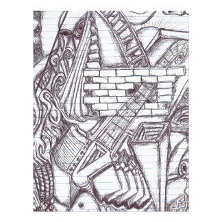 Pen Doodle Pattern Letterhead