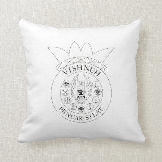 pen drawing on kissing Vishnuh Throw Pillow