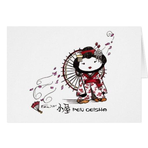 Pen Geisha Greeting Card