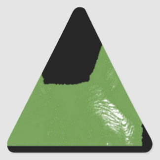 PEN Green on black Triangle Sticker