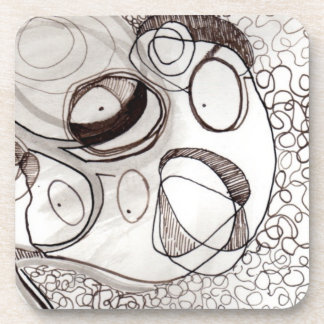 Pen & Ink Art 2 Drink Coaster