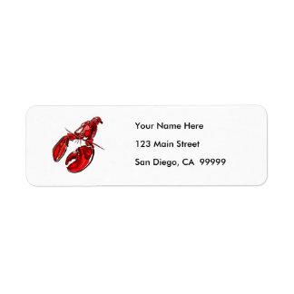 Pen & Ink Lobster Sketch Label