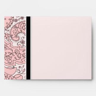 Pen & Ink Paisley Custom Color, Wedding Envelopes