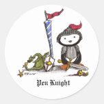Pen Knight Classic Round Sticker