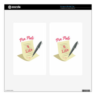 Pen Pals Decals For Kindle Fire