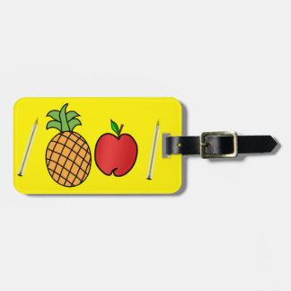 pen pineapple apple pen luggage tag