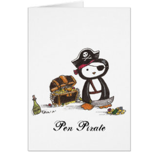 Pen Pirate Greeting Cards