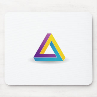 Pen rose triangle mouse pad