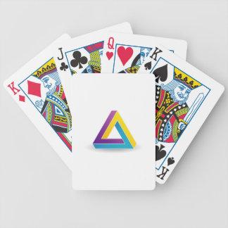 Pen rose triangle card deck