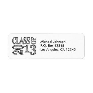 Pen Sketch Class of 2013 Labels