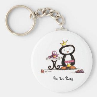 Pen Tea Party Key Chains