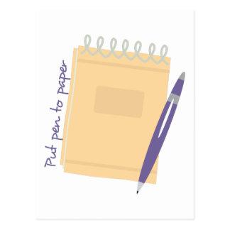 Pen to Paper Postcard