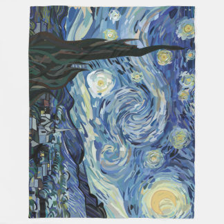 Pen Tool Van Gogh Fleece Blanket