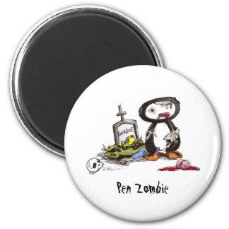 Pen Zombie 2 Inch Round Magnet