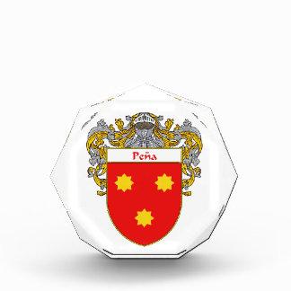 Pena Coat of Arms Family Crest Acrylic Award