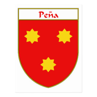 Pena Coat of Arms/Family Crest Postcard