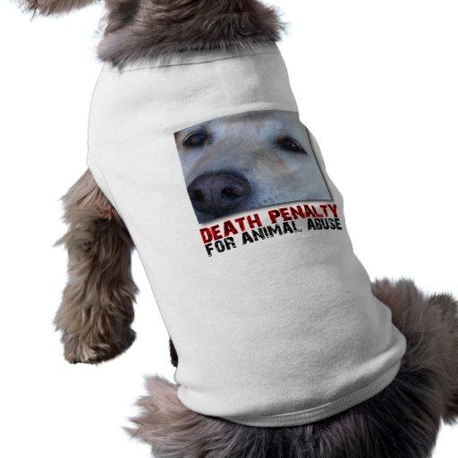 PENA de MUERTE PARA la camisa ANIMAL del perro del Playera Sin Mangas Para Perro