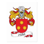 Pena Family Crest Post Cards