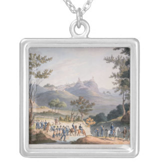 Pena Macor, engraved by C. Turner Silver Plated Necklace
