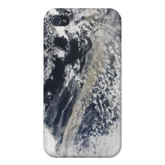 Penacho de la ceniza del volcán de iPhone 4 fundas