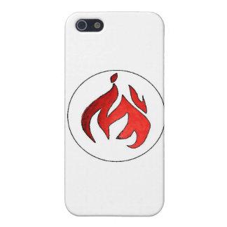 Penacho de la llama del fuego de la música de la a iPhone 5 carcasas