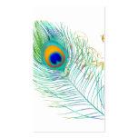 Penacho del pavo real de PixDezines/color de fondo Tarjetas De Visita