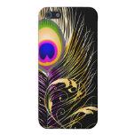 Penacho del pavo real de PixDezines+fondo de filig iPhone 5 Cobertura