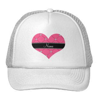 Penacho rosado conocido personalizado de los gorras de camionero