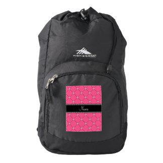 Penacho rosado conocido personalizado de los mochila
