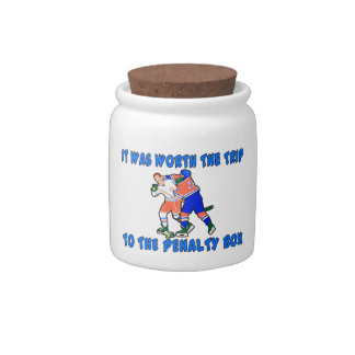 Penalty Box Hockey Fight Candy Jars
