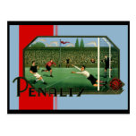 Penalty Goal British Football Postcard