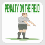 Penalty On The Field Square Sticker