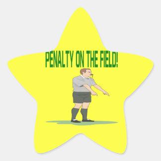 Penalty On The Field Star Sticker