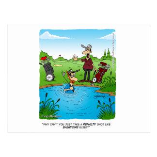 penalty shot postcard