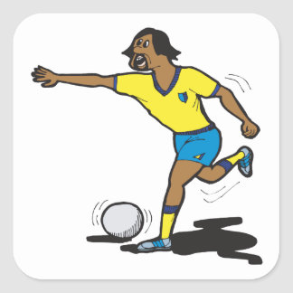 Penalty Shot Square Sticker